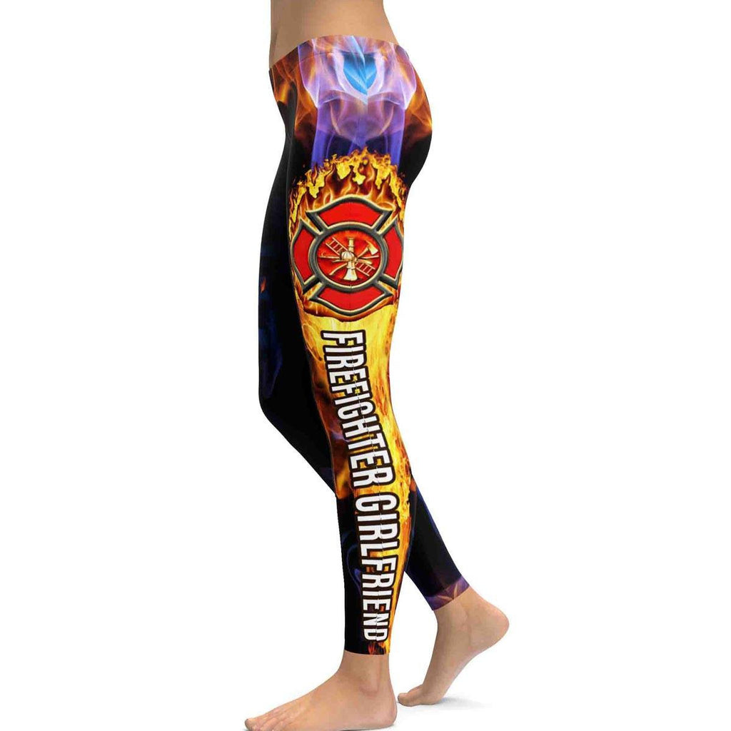 Firefighter Girlfriend All Over Print Leggings