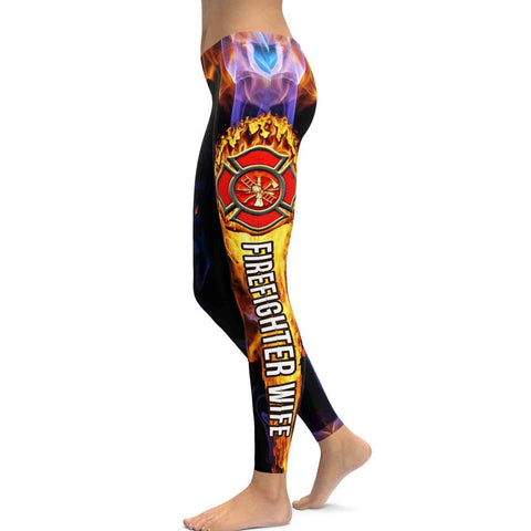 Firefighter Wife All Over Print Leggings