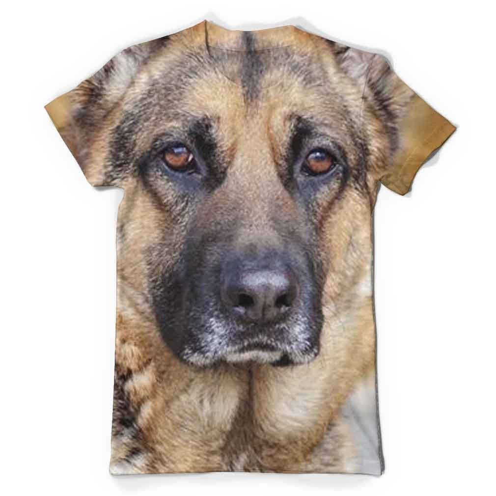 German Shepherd Eyes All Over Print T-Shirt
