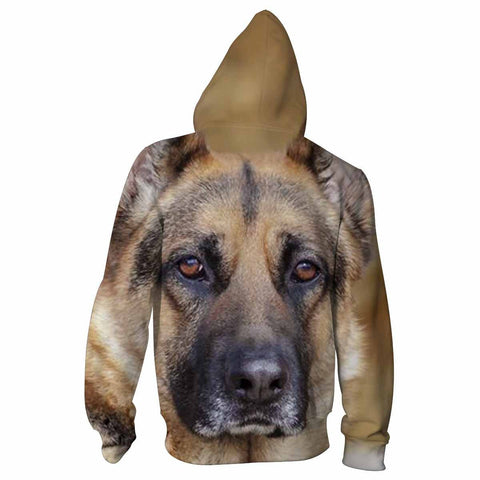 German Shepherd Eyes All Over Print Hoodie