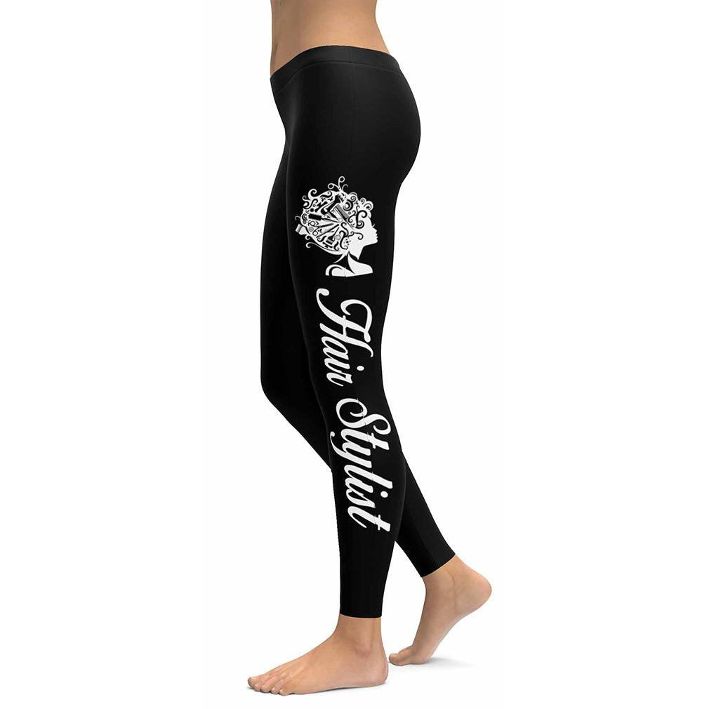 Hair Stylist Black Leggings