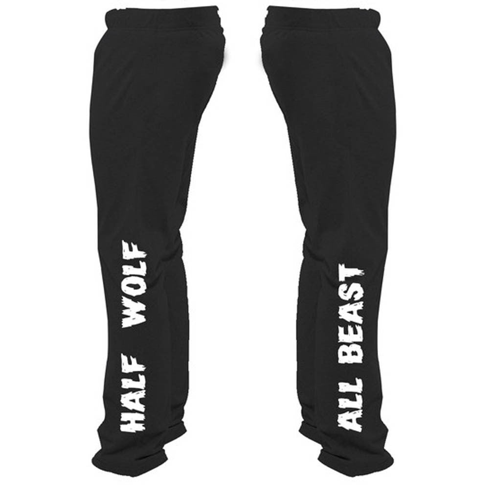 Half Wolf All Beast Sweatpants - Butterfly Trade