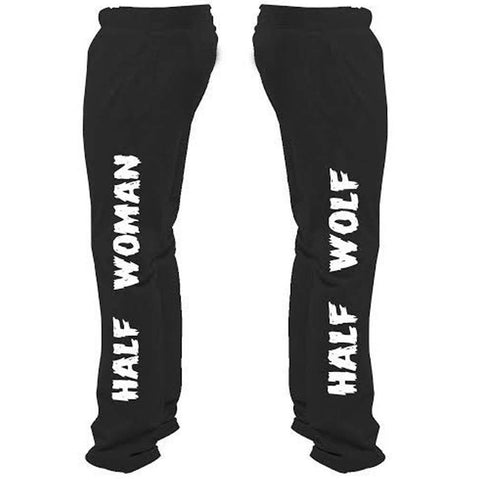 Half Woman Half Wolf Sweatpants