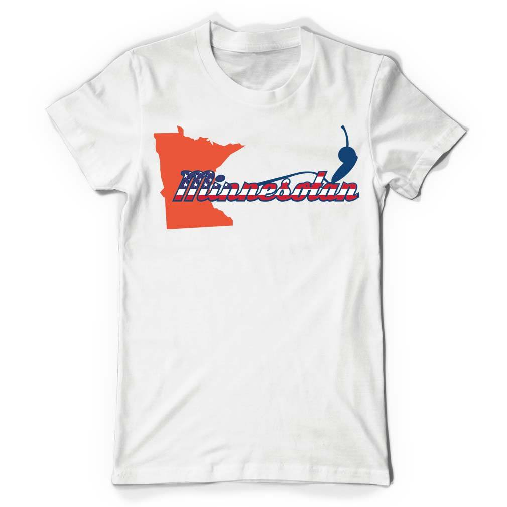 Minnesotan White T Shirt - Butterfly Trade