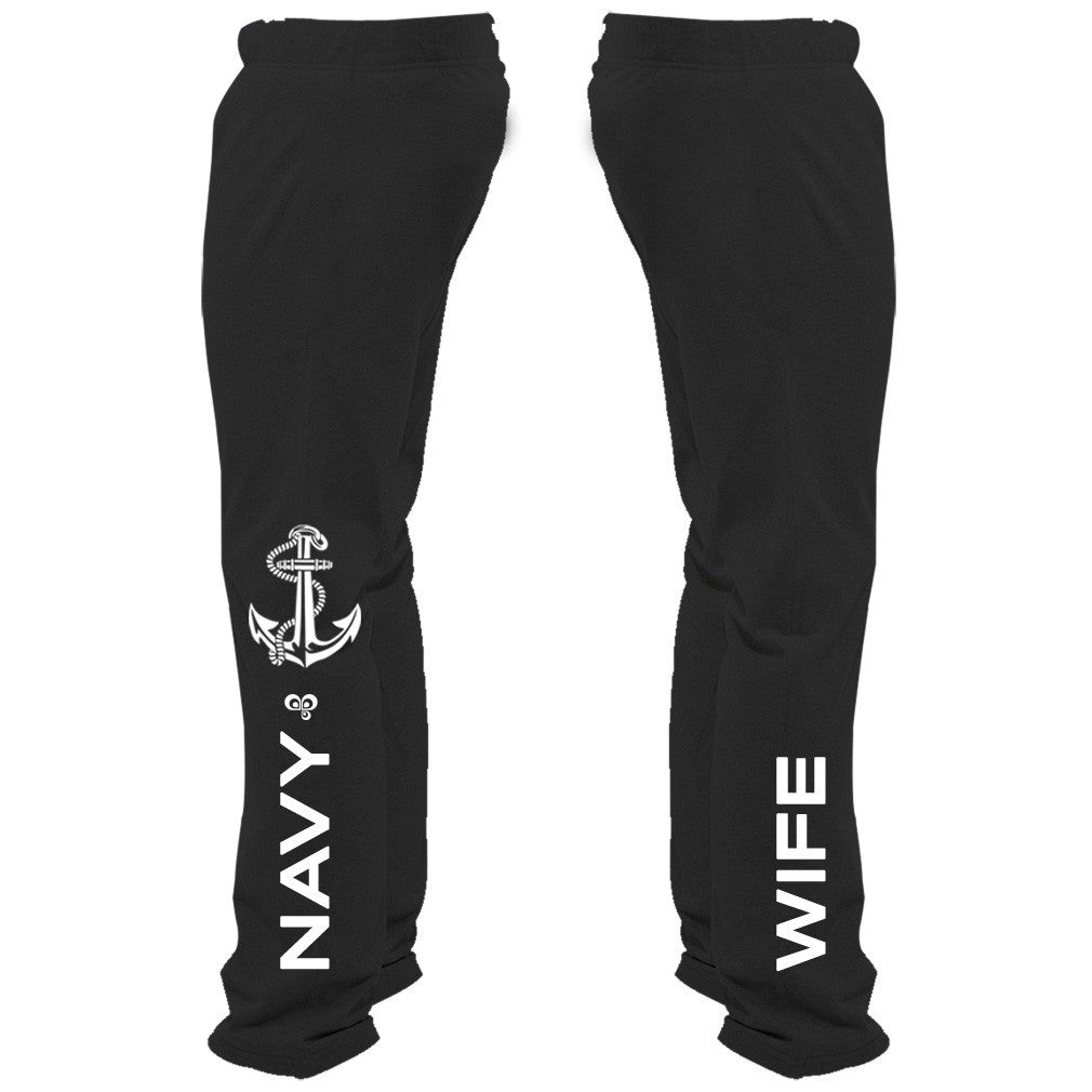 Navy Wife Sweatpants - Butterfly Trade