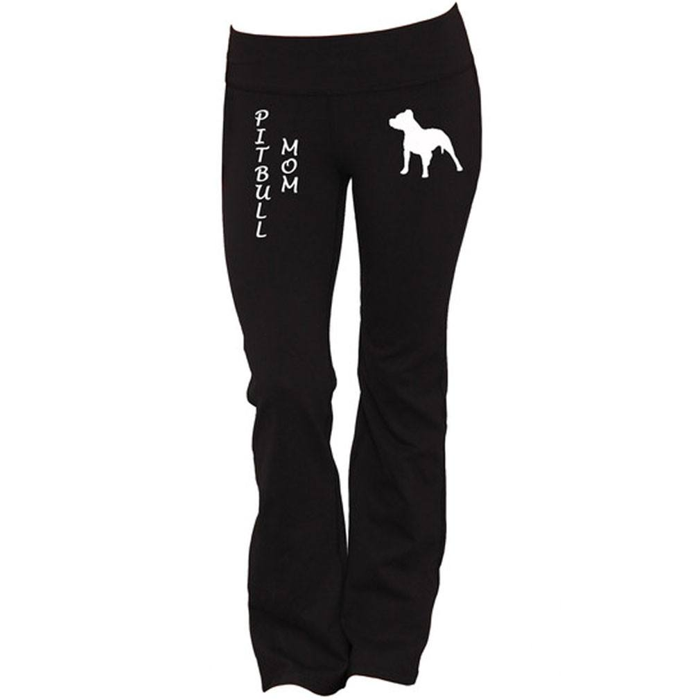 Pitbull Mom Yoga Pants - Butterfly Trade
