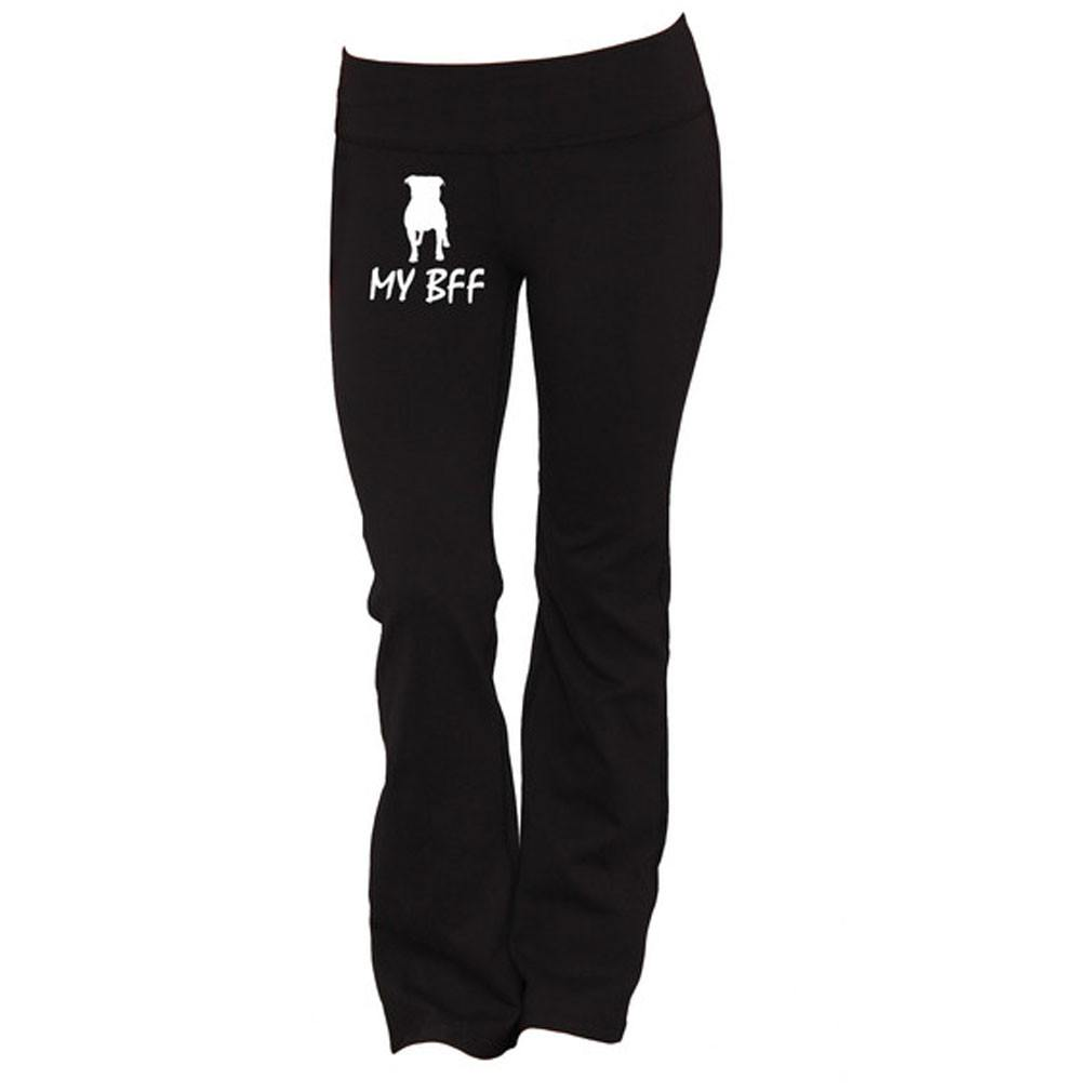 Pitbull Is My BFF Yoga Pants - Butterfly Trade