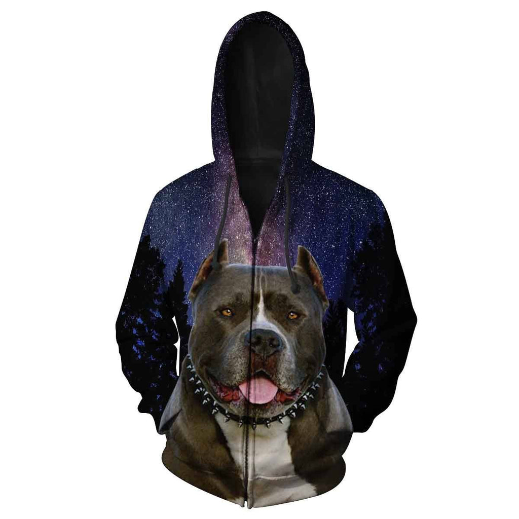 Pitbull All Over Print Hoodie