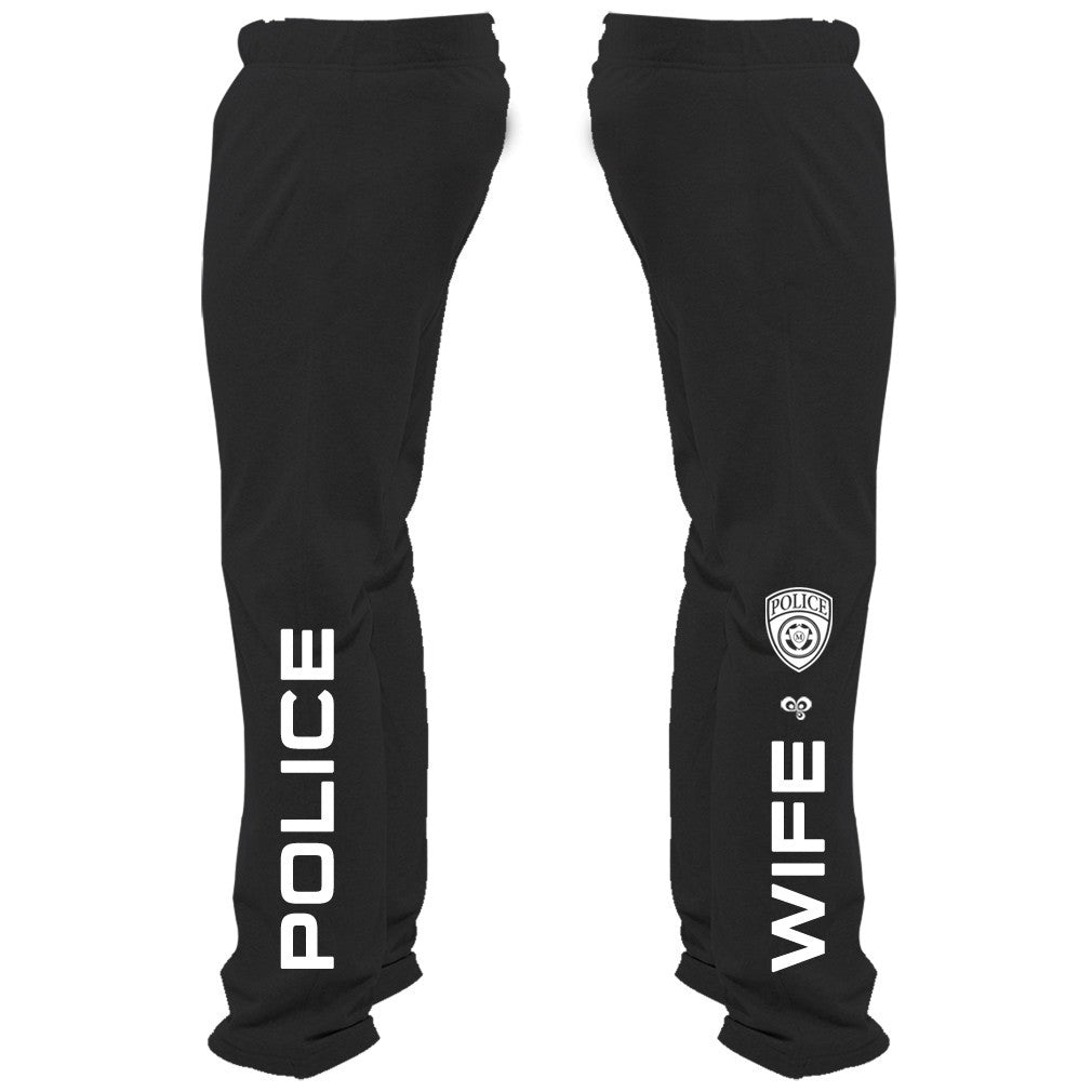Police Wife Sweatpants - Butterfly Trade