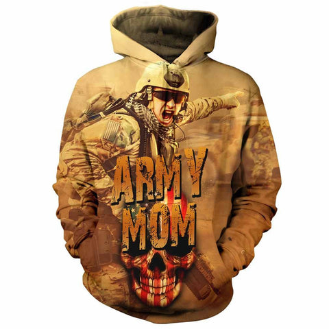 Army Mom All Over Print Hoodie