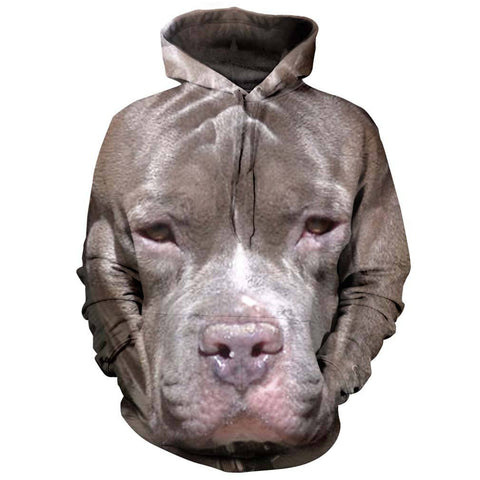 Pitbull Eyes All Over Print Hoodie