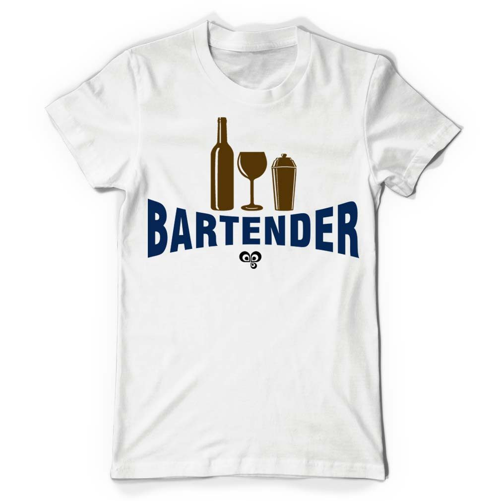 Bartender White T Shirt - Butterfly Trade