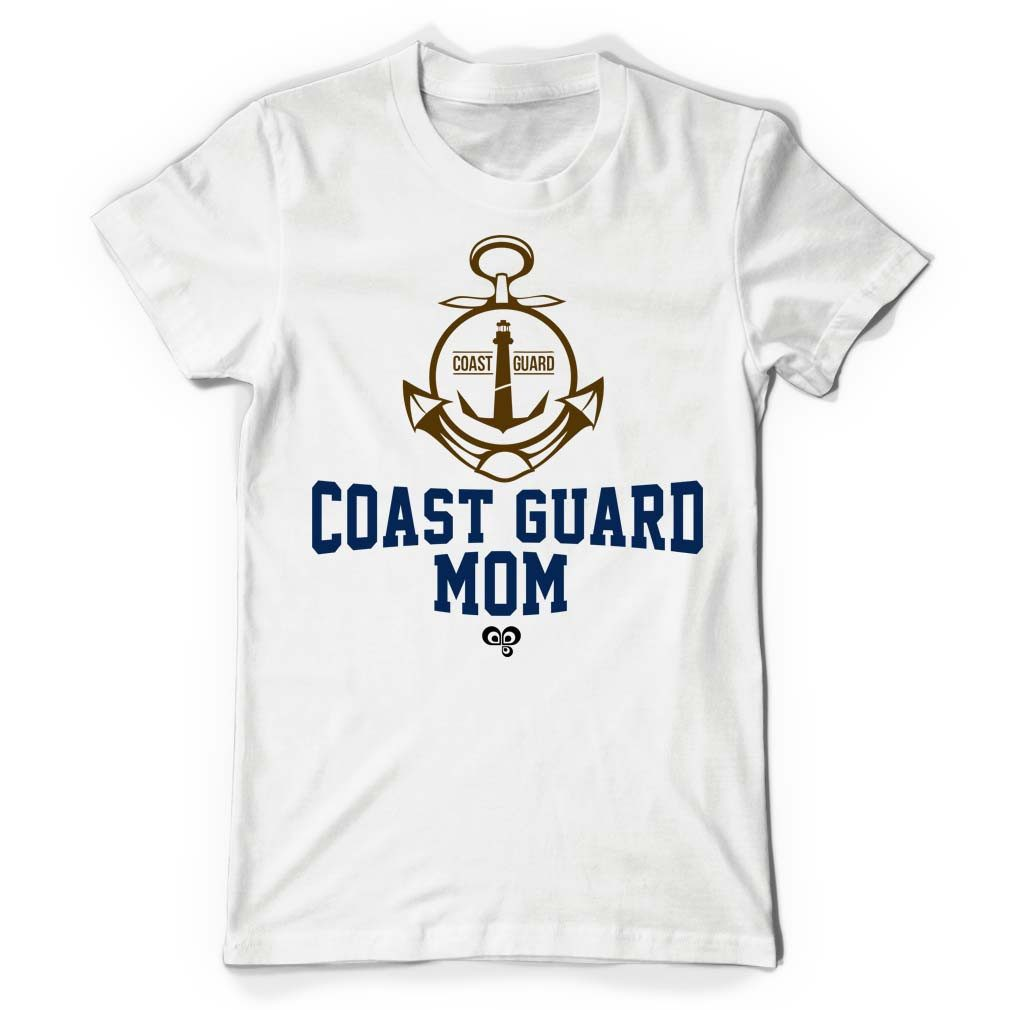 Coast Guard Mom White T Shirt - Butterfly Trade