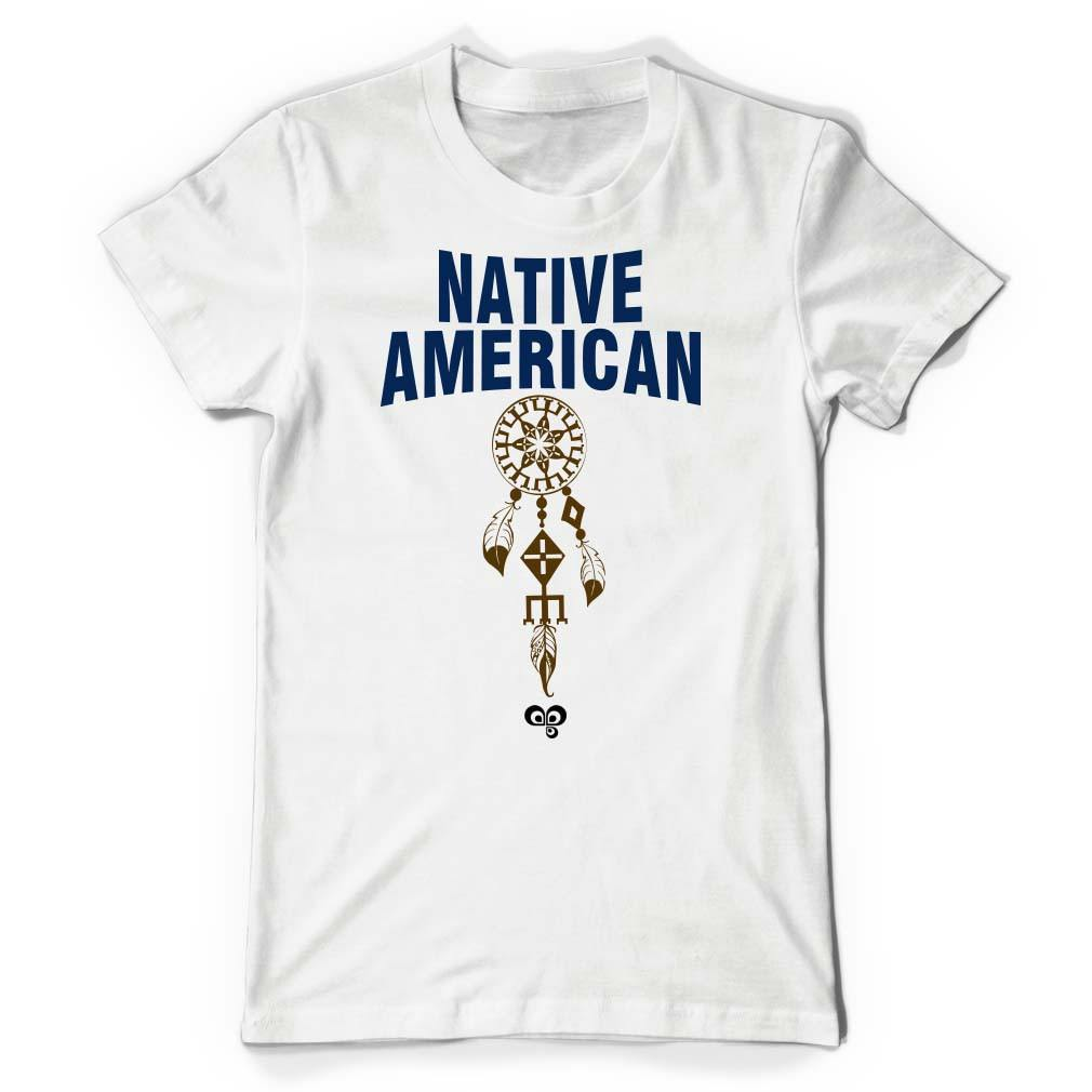 Native American White T Shirt - Butterfly Trade