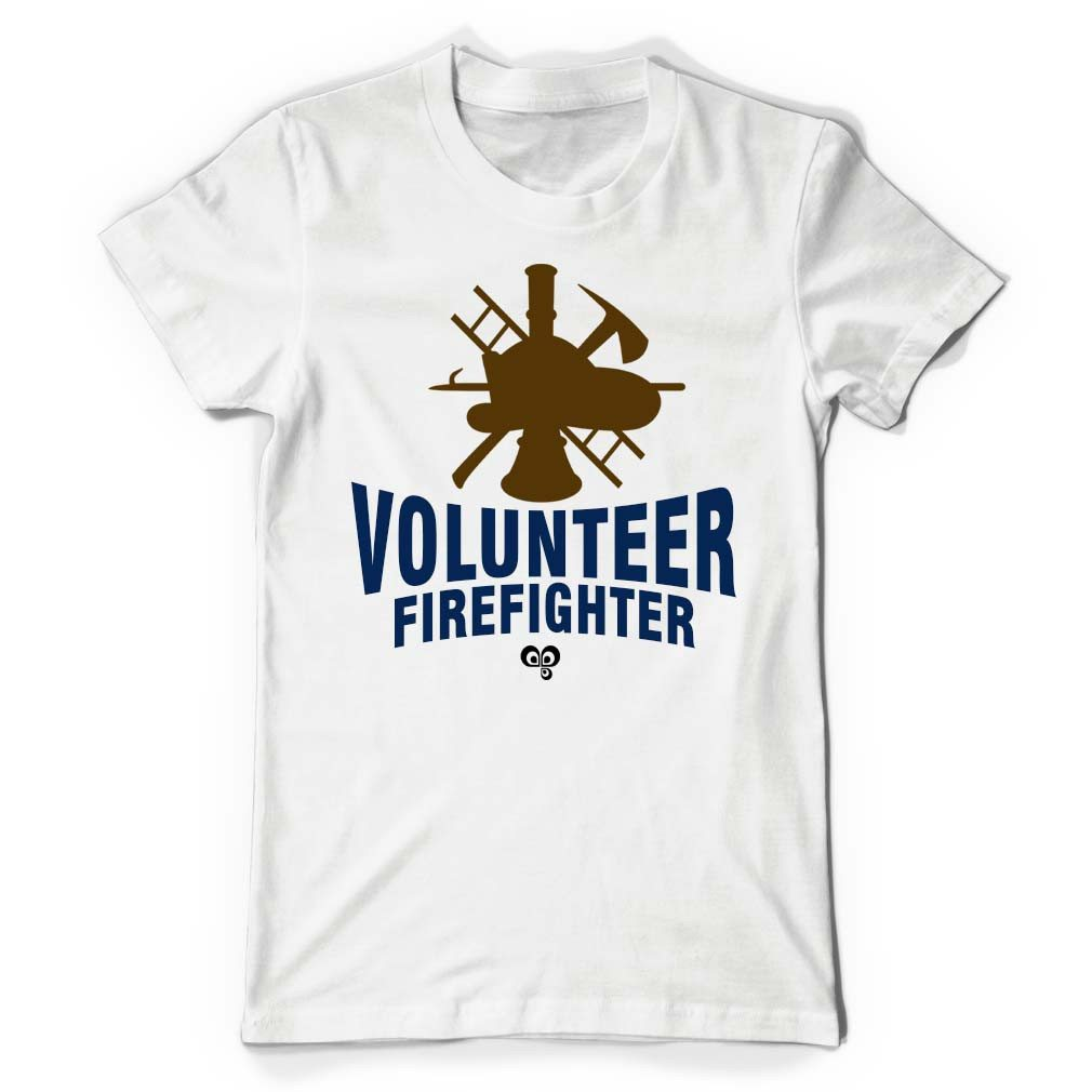 Volunteer Firefighter White T Shirt - Butterfly Trade
