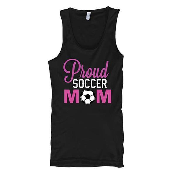 Proud Soccer Mom Tank Tops - Butterfly Trade