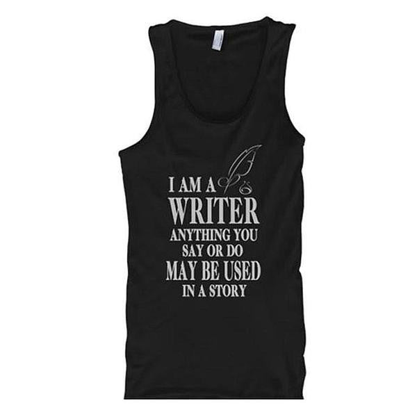I Am A Writer Tank Tops - Butterfly Trade