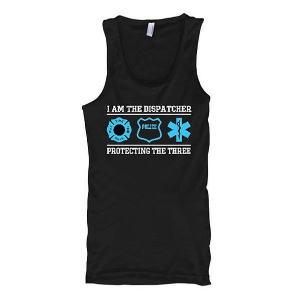 I Am The Dispatcher - Protecting The Three Tank Tops - Butterfly Trade