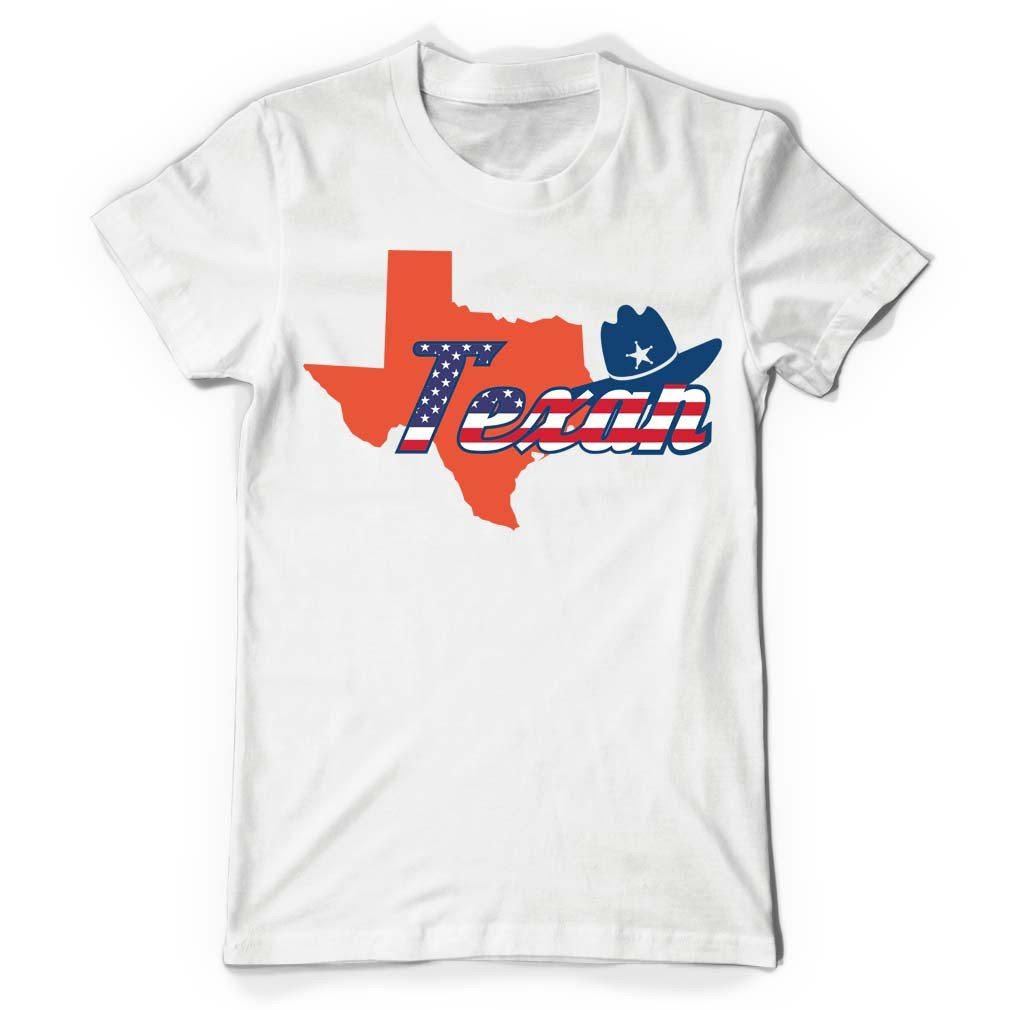 Texan White T Shirt - Butterfly Trade