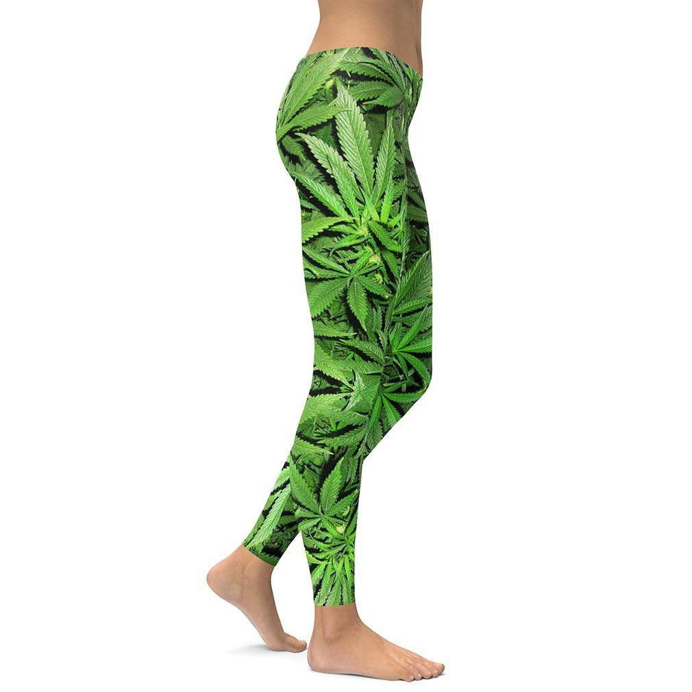 Weed All Over Print Leggings
