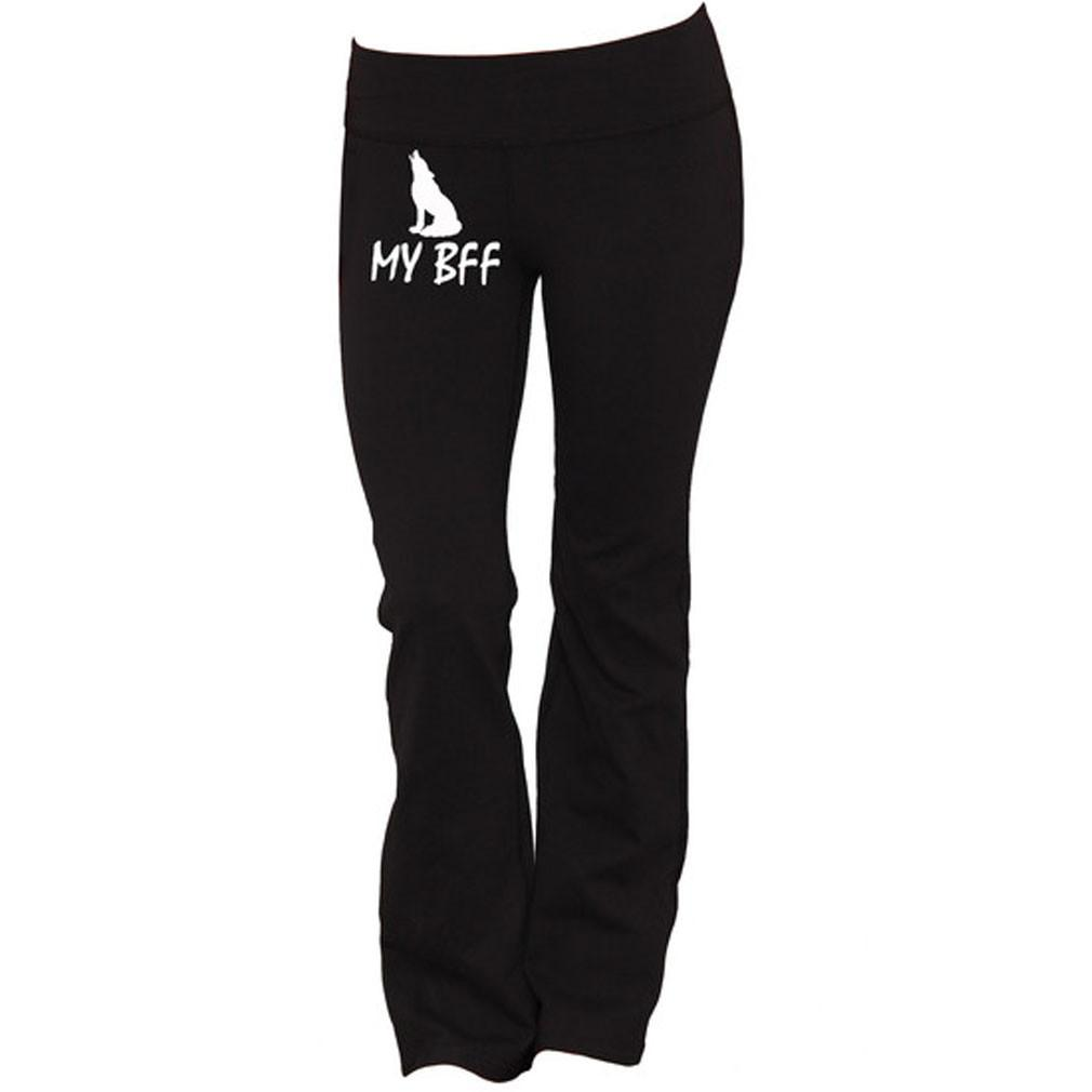 Wolf Is My BFF Yoga Pants - Butterfly Trade