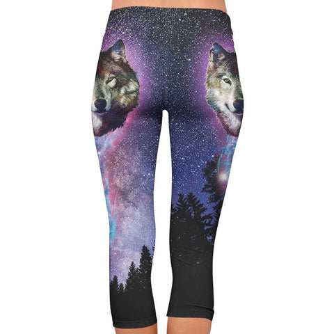 Wolf All Over Print Capri