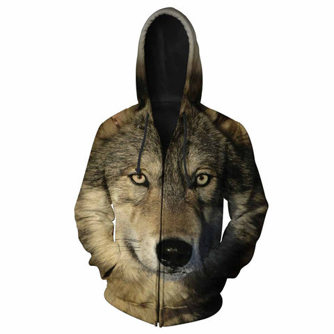 Wolf Eyes All Over Print Hoodie