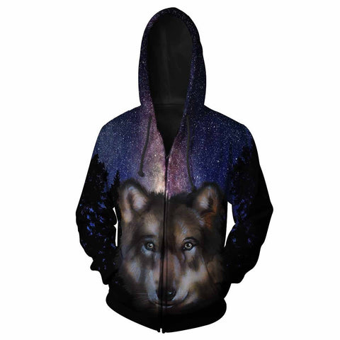 Wolf All Over Print Hoodie
