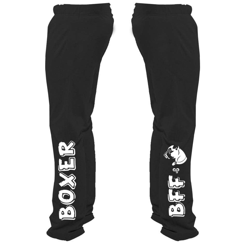 Boxer Is My BFF Sweatpants - Butterfly Trade