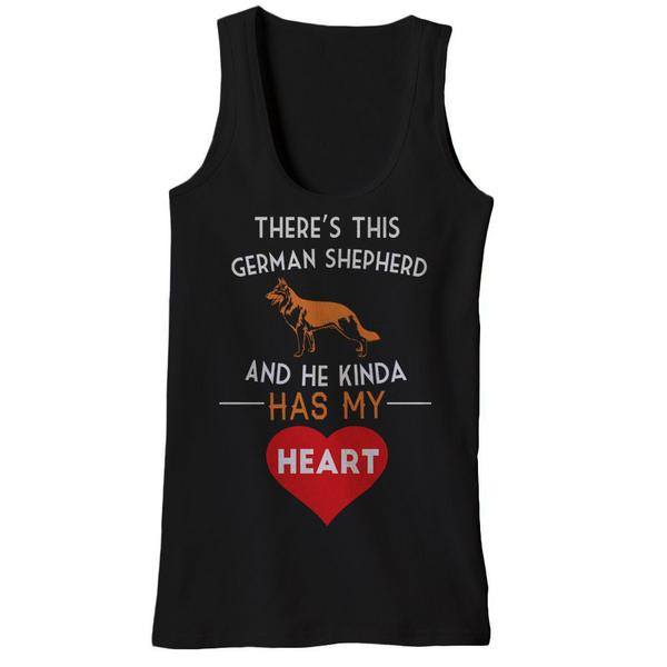 There's This German Shepherd And He Kinda Has My Heart Tank Tops - Butterfly Trade