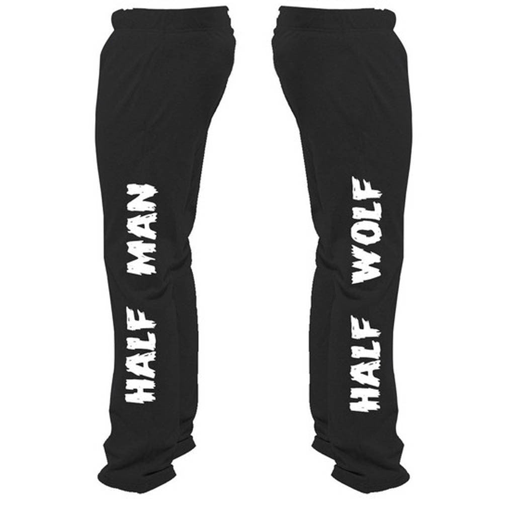 Half Man Half Wolf Sweatpants - Butterfly Trade