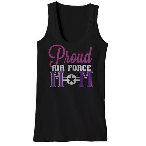 Proud Air Force Mom Tank Tops
