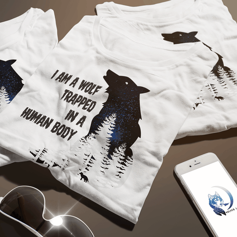 I Am A Wolf Trapped In A Human Body T Shirt