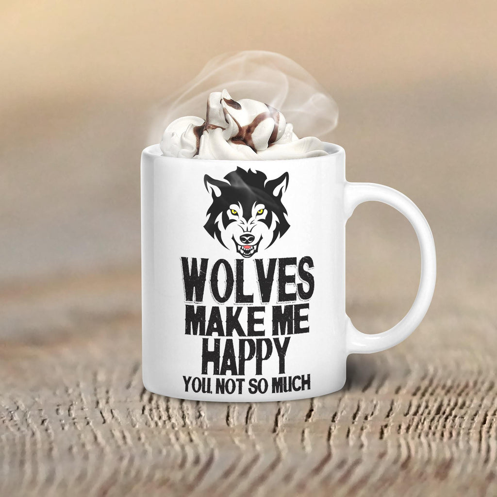Wolves Make Me Happy Mug - Butterfly Trade