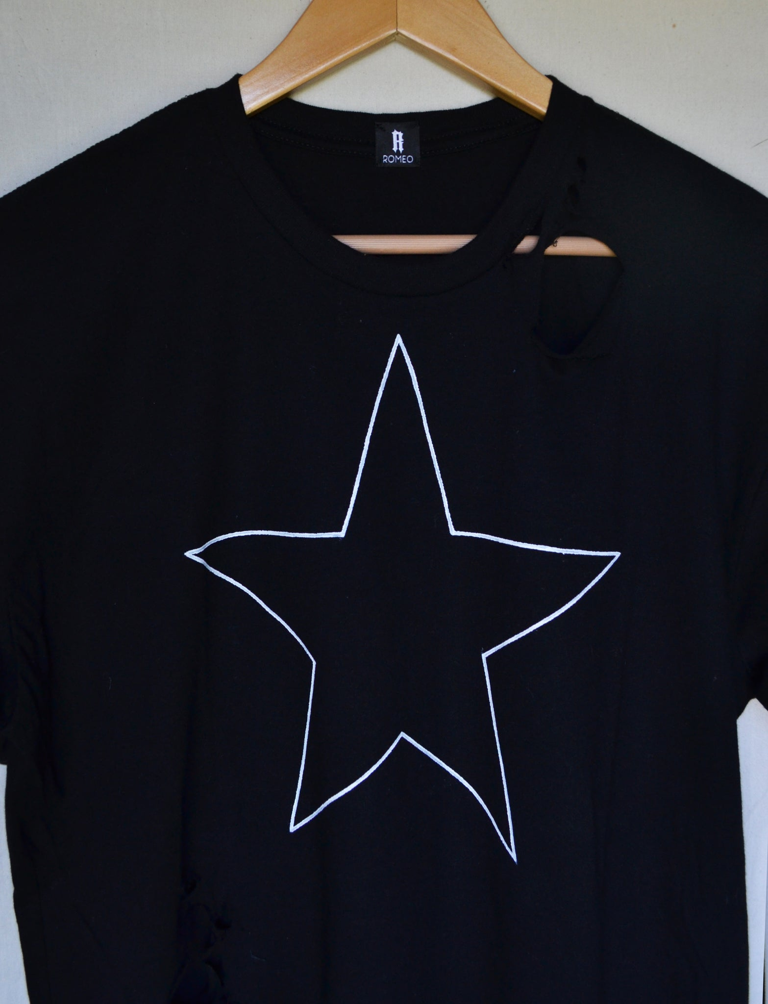 DESTROYED STAR T-SHIRT