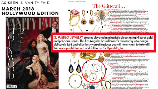 Pueblo Jewelry Featured in Vanity Fair