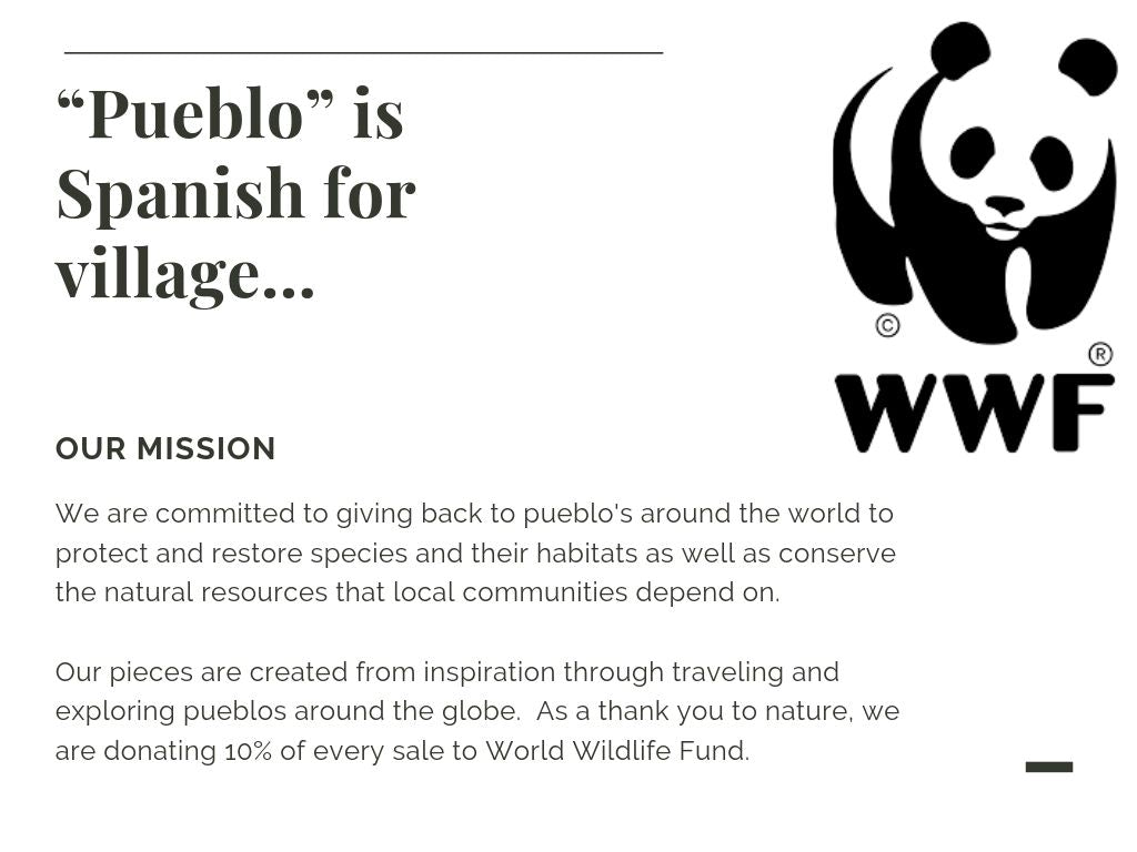 Pueblo Jewelry, partners with WWF (world wildlife fund)