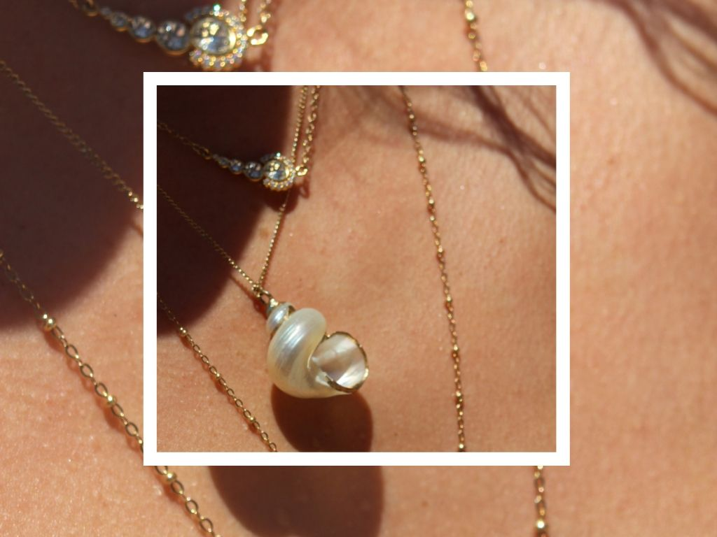 one-of-a-kind fine jewelry featuring shell necklace