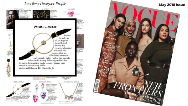 Pueblo Jewelry in British Vogue Magazine