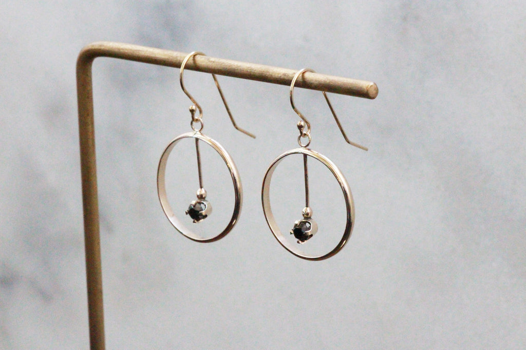 Diamond Circle/Eternity Earrings - Made from solid 14k gold