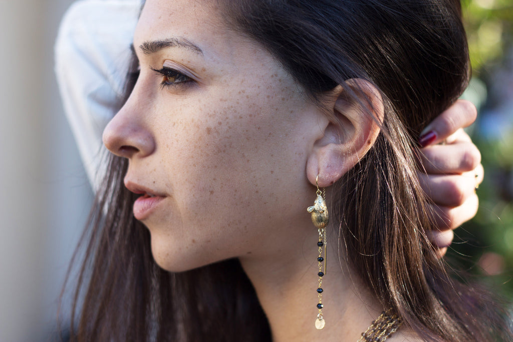 Mouse Threader Earrings