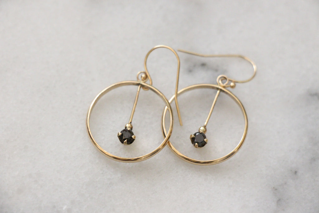 Diamond Pendulum Earrings