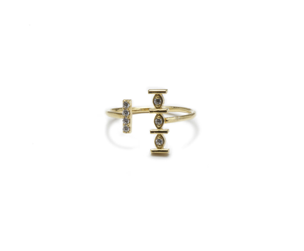 Pueblo Jewelry 14k Gold Dainty Open Ring