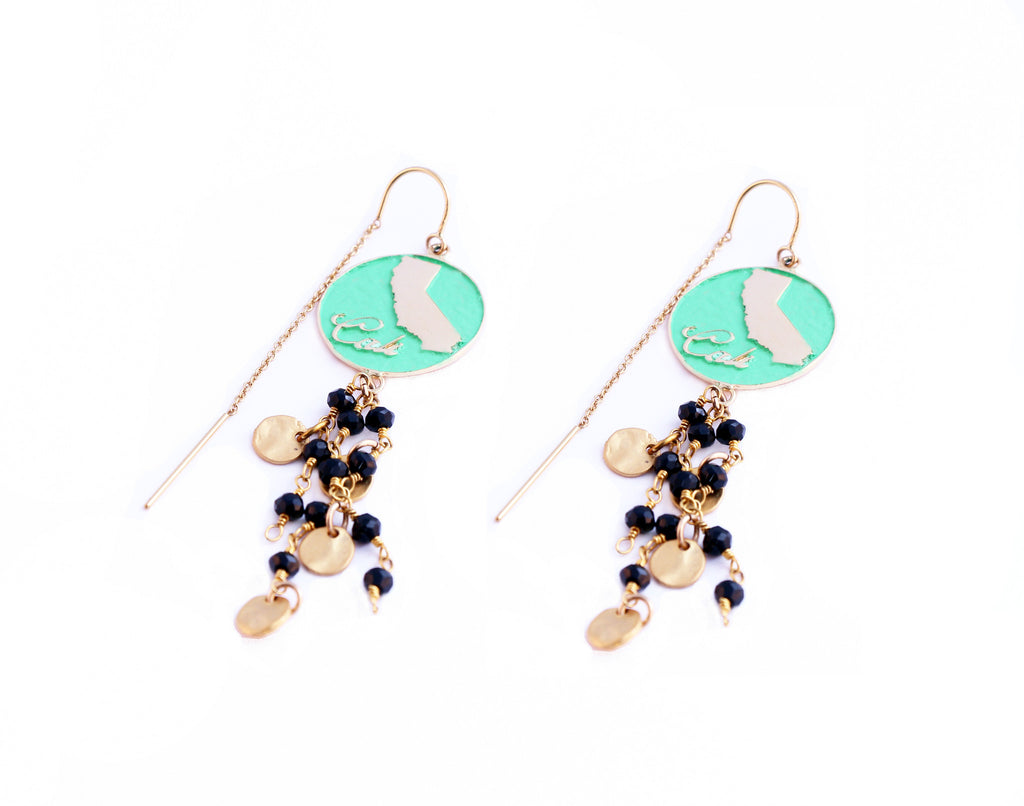 CA Threader Earrings
