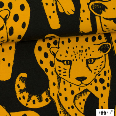 Fairtrade Biojersey Cheetah Ocker