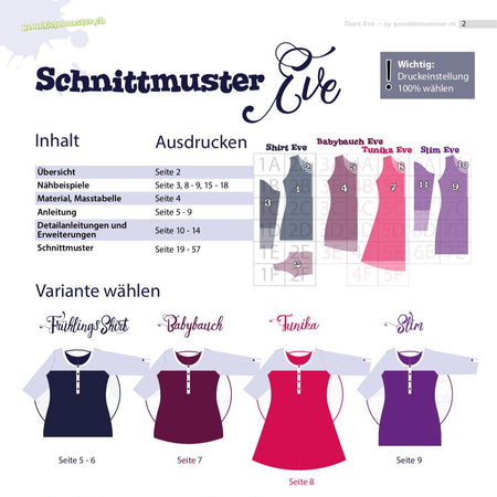 Ebook Damenshirt Eve