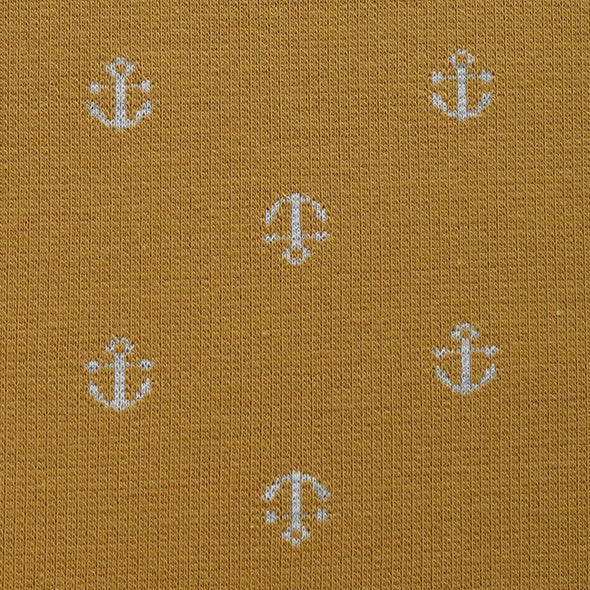 Fairtrade Bio Interlock Jacquard Anker Curry Nevis