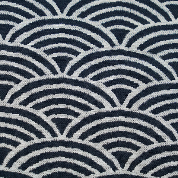 Fairtrade Bio Interlock Jacquard Regenbogen Dark Blue Nevis
