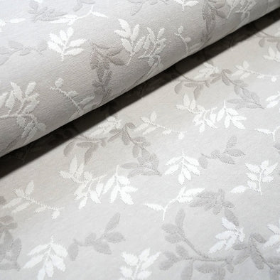 Jacquard Relief Shiny Leaves Platin