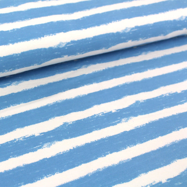 Bio-Sweat - 'Mellow Stripes lichtblau' - 0.5m